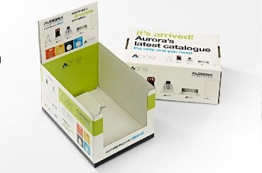 Carrier Carton Display Unit for Printed Catalogues